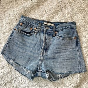 Levi's Wedgie Cut Off Light Wash Jean Shorts 24